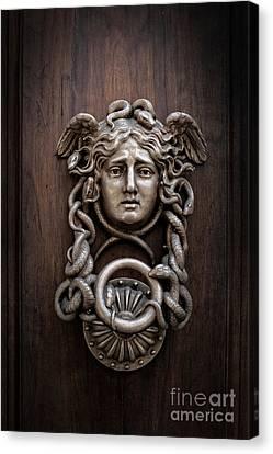 Medusa Head Door Knocker Canvas Print by Edward Fielding