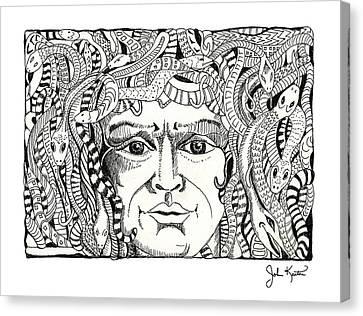 Medusa Canvas Print by John Keaton
