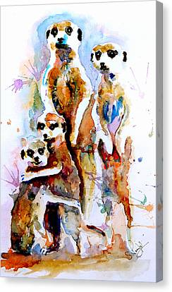 Meet The Family Canvas Print by Steven Ponsford