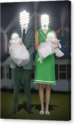 Meet The Greens 2 Canvas Print by Mike McGlothlen