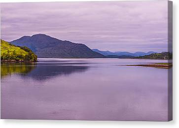 Meeting Of The Lochs  Canvas Print by Steven Ainsworth