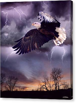 Meeting The Storm Canvas Print by Bill Stephens