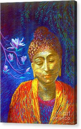 Meeting With Buddha Canvas Print by Jane Small