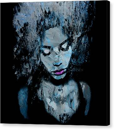 Melancholy And The Infinite Sadness Canvas Print by Marian Voicu