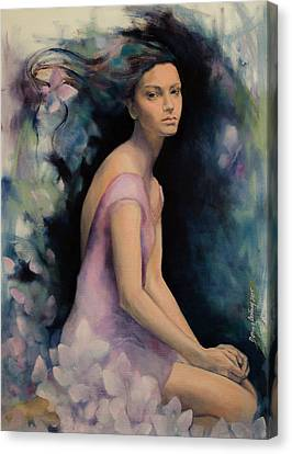 Melancholy Butterflies Canvas Print by Dorina Costras