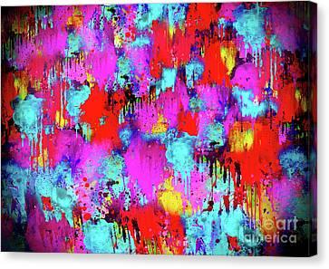 Melting Flowers Abstract  Canvas Print by Prar Kulasekara