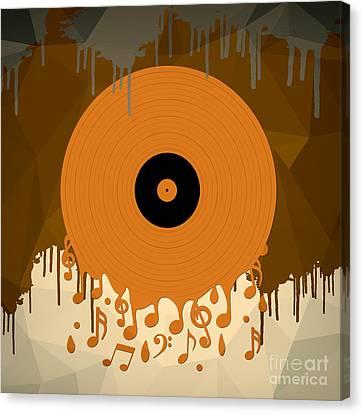 Melting Music Canvas Print by Bedros Awak