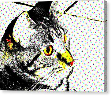 Melvin In Dots Canvas Print by Paulo Guimaraes