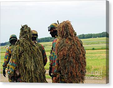 Members Of The Special Forces Group Canvas Print by Luc De Jaeger