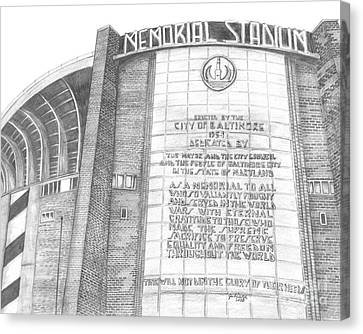 Memorial Stadium Canvas Print by Juliana Dube