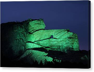 Memorial To Crazy Horse Canvas Print by Cyril Furlan