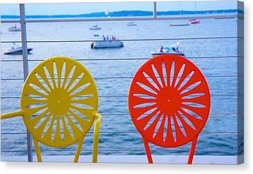 Memorial Union Terrace Chairs Canvas Print by Art Spectrum