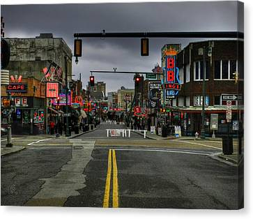 Memphis - Beale Street 001 Canvas Print by Lance Vaughn