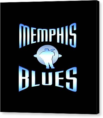 Memphis Blues Tshirt Design Canvas Print by Art America Online Gallery