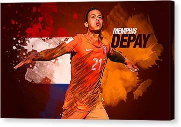 Memphis Depay Canvas Print by Semih Yurdabak