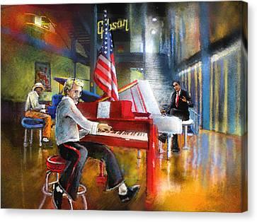 Memphis Nights 04 Canvas Print by Miki De Goodaboom