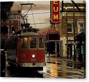 Memphis Tennissee Streetcar Canvas Print by Don Wolf