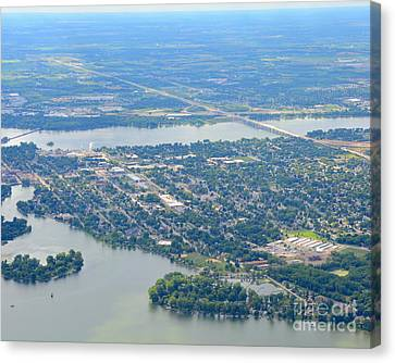 Menasha To West Canvas Print by Bill Lang