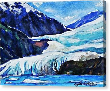 Mendenhall Glacier Upclose In May Canvas Print by Therese Fowler-Bailey