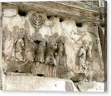 Menorah On The Arch In Roma Canvas Print by Mindy Newman