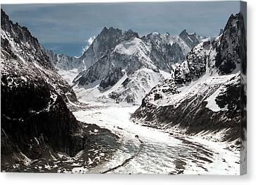 Mer De Glace - Mont Blanc Glacier Canvas Print by Frank Tschakert