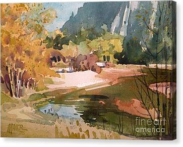Merced River Encounter Canvas Print by Donald Maier