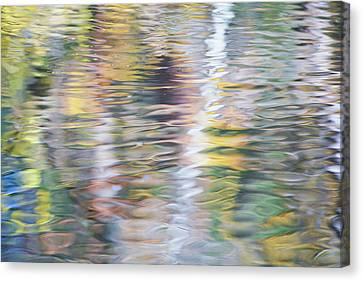 Merced River Reflections 10 Canvas Print by Larry Marshall