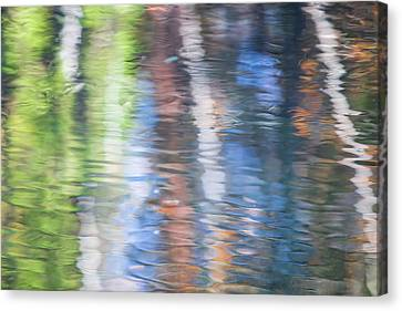 Merced River Reflections 8 Canvas Print by Larry Marshall