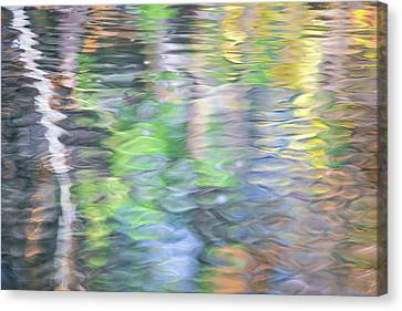 Merced River Reflections 9 Canvas Print by Larry Marshall