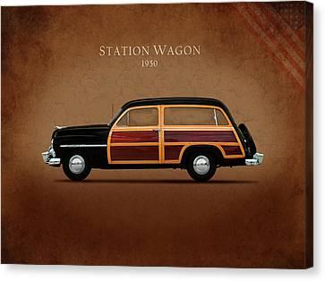 Mercury Station Wagon 1950 Canvas Print by Mark Rogan