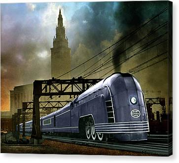 Mercury Train Canvas Print by Steven Agius