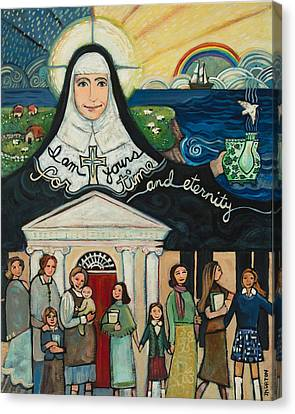 Mercy Foundress Catherine Mcauley Canvas Print by Jen Norton