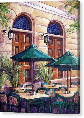 Merida Cafe Canvas Print by Candy Mayer