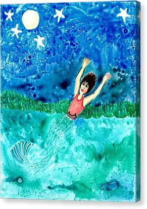 Mermaid Metamorphosis Canvas Print by Sushila Burgess