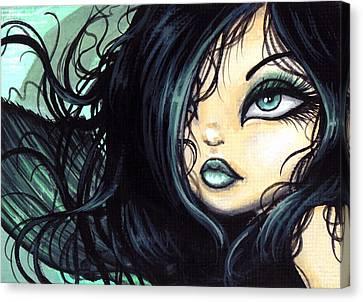 Mermaid Sylvara Canvas Print by Elaina  Wagner