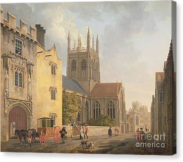 Merton College - Oxford Canvas Print by Michael Rooker