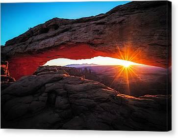 Mesa Arch Canvas Print by Edgars Erglis