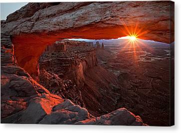 Mesa Arch Sunrise Canvas Print by Barbara Read