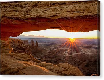 Mesa Arch Sunrise - Canyonlands National Park - Moab Utah Canvas Print by Brian Harig