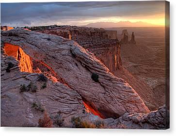 Mesa Arch Sunrise II Canvas Print by Jeff Clay
