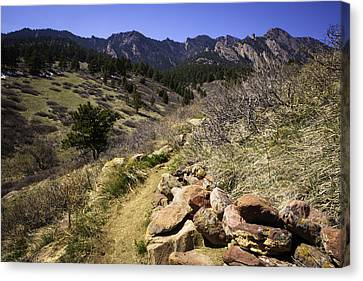 Mesa Trail And Flatirons Canvas Print by Marilyn Hunt