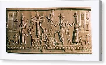Mesopotamian Gods Canvas Print by Photo Researchers