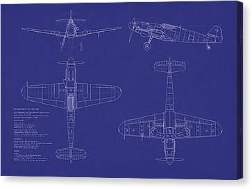 Messerschmitt Me109 Canvas Print by Michael Tompsett