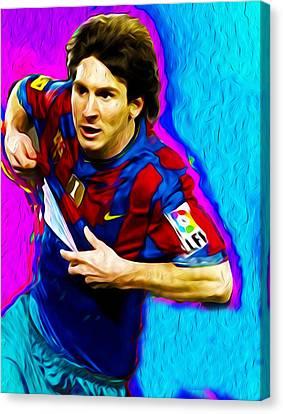 Messi Nixo 001 Canvas Print by Nixo Nixolas