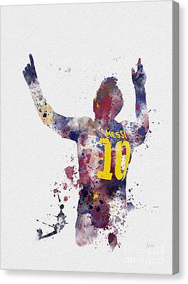 Messi Canvas Print by Rebecca Jenkins