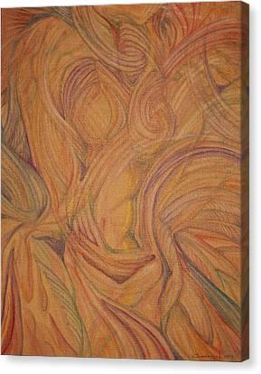 Meta Canvas Print by Caroline Czelatko