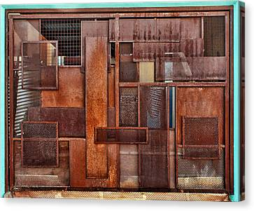 Metal - Abstract - Rust Canvas Print by Nikolyn McDonald