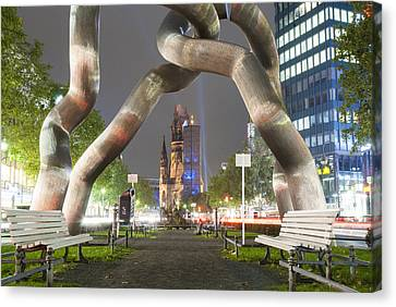 Metal Art Berlin Canvas Print by Nathan Wright