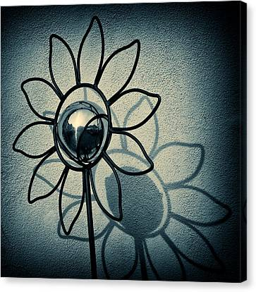 Metal Flower Canvas Print by Dave Bowman