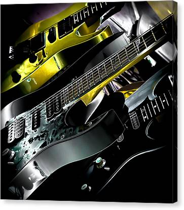 Metallic Guitars Canvas Print by David Patterson